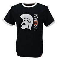 Trojan Records 100% Cotton Black Helmet Logo T Shirt