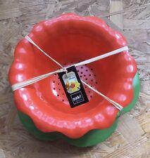 """ZAK Passoire """"Jonquille"""" 15 cm avec Soucoupe - Vert & Corail"""
