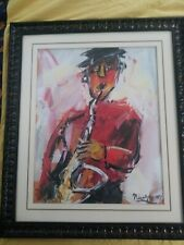 Charles Nivens 07 musician one  lithograph beautifully framed