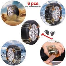 6x Auto Reifen Anti Rutsch Ketten Schneeketten Verdickung 215-285 mm Eis Spikes