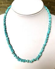 Santo Domingo Turquoise Nugget Sterling Necklace 18.5""