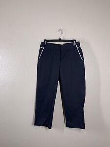 Callaway Womens Medium M Black Golf Crop Pants NEW