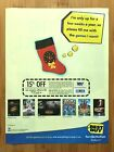 2002 BEST BUY PC Video Games Coupon Print Ad/Poster WarCraft Bond 007 Christmas