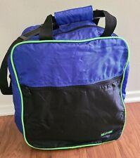 Vintage 1980's Ski Tech Boot Duffle Bag - Blue with Neon Green Trim & Pocket