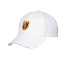 Porsche Baseball Cap-  Whaie Classic Colored Crest   WAP-080-004-0C