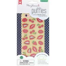 Scrapbooking Stickers Crafts Mrs. Grossman's Puffy Pucker Up Lips Kisses Cherry