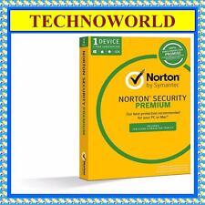 SYMANTEC NORTON SECURITY PREMIUM 2016 FOR PC MAC 1 DEVICE 1 YEAR 2GB STORAGE