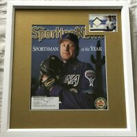 Curt Schilling autographed signed Diamondbacks 2001 TSN cover framed jersey card