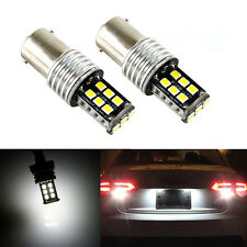 2X 10W 15-SMD White 7506 1156 P21W LED Bulbs For Euro Car Backup Reverse Lights