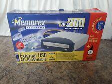 Memorex BBQ200 Cdrom Cd-Rw CD Burner cd-rewritable . As new.