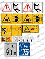 KUBOTA MINI DIGGER SAFETY WARNING DECAL STICKER SET