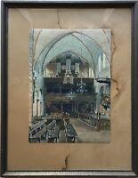 KIRCHENINTERIEUR EUTIN SCHLESWIG HOLSTEIN - TH. DAHL 1935 - 58 X 45