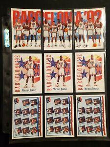1992 Skybox /Hoops USA Dream Team Basketball Barcelona 9 Card Investment Set