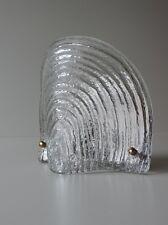 PEILL + PUTZLER WANDLAMPE LAMPE WANDLEUCHTE MUSCHEL MASSIV GLAS 70er