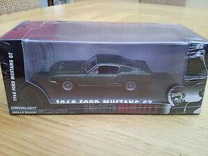 BULLITT 1:43rd Mustang Ford Fastback diecast car Steve McQueen GREENLIGHT 86431