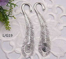 Wholesale 20PCS Tibet Silver Hook Retro Carve Circle Bookmarks 105*22mm L/G19