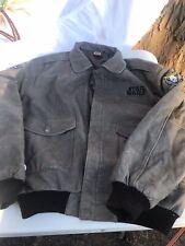 Vintage Star Wars Mens Size XL Leather Jacket Bomber Episode 1 Phantom Menace