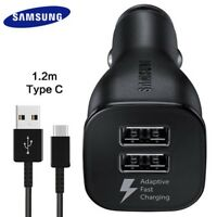 SAMSUNG EP-LN920 DUAL PORT FAST CAR CHARGER + TYPE C CABLE  FOR GALAXY S8 / S8 +