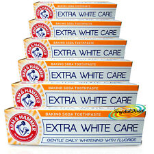 6x Arm & Hammer EXTRA WHITE CARE 125g Fluoride Cavity Protection