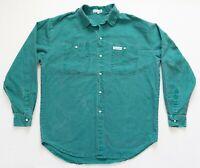 Vintage Calvin Klein Button Down Shirt Size XL Men Green Collared XLarge