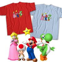 Super Mario Bros Princess Peach Yoshi Toad Mens Womens Kids Unisex Tee T-Shirt