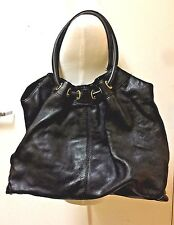 Authentic Michael Kors Black Astor X Large Leather Ring Tote B-0809