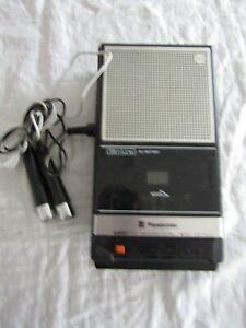 VINTAGE TAPE RECORDER PANASONIC rq 2735 with L & R mics