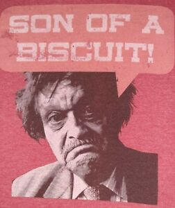 """Red """"Son Of A Biscuit"""" Old Man Novelty Tshirt Size Medium Pre-owned"""