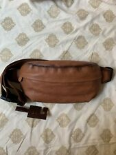 Frye Madison Leather Waist Bag in Stone - Natural Tan Hip Belt NWT