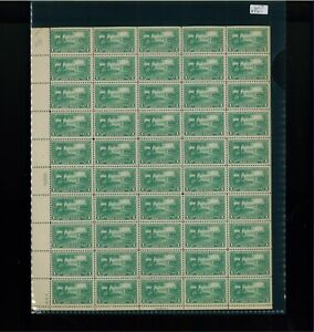 1925 United States Postage Stamp #617 Plate No. 16800  Mint Full Sheet