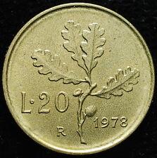 1978  Repubblica Italiana   20 lire    difetto di conio