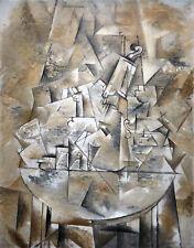 Peinture braque still life le guéridon art imprimé photo affiche HP2800