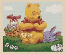 Disney Cross Stitch Chart - disney Wiinnie the Pooh Easter- No 353.TSG37 .