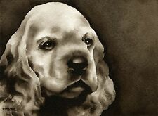 Cocker Spaniel Puppy note cards by watercolor artist Dj Rogers
