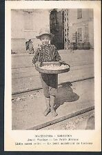 POSTCARD Macedonia Thessaloniki Small Traders The Little Sweet Seller  c1915