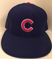 Chicago Cubs Baseball Authentic MLB Baseball New Era Cap Fitted Hat Size 7 1/2