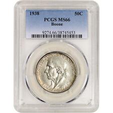 1938 US Daniel Boone Silver Commemorative Half Dollar 50C - PCGS MS66