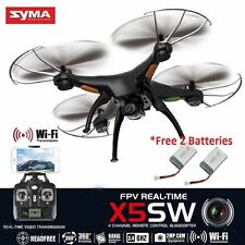 New Syma X5SW FPV 2.4G 4CH RC Quadcopter Drone Wifi HD Camera Free 2 Batteries