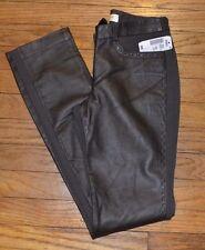 CENTRE VILLE Paris LEATHER Front Pants Leggings 50% Leather Size XS