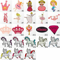 #3660R Princess Cartoon Girl Kids Children Embroidered Sew Iron On Patch Badge