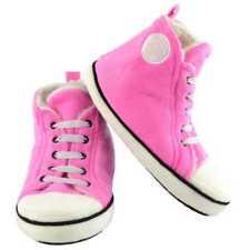 Unisex retro Slippers Girls Hi-Top trainer design size pink kids small