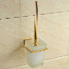 Wall Mount Toilet Brush Holder Stainless Steel Bathroom Accessories Clean Tool