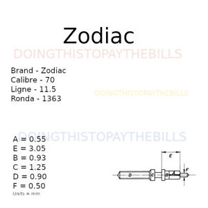 Zodiac 70 - Winding Stem - Ronda 1363 - 11.5''' (BC943)