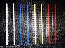 PCB Coloured Headers 1x40 Pin Male SIL/Strip/Edge Connecto (Pair)