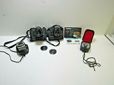 Lot of (2) Konica FC-1 Camera's w/Hexanon AR 50mm f/1.8 & Zoom 35-70mm f/4 Lens