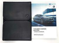 GENUINE BMW 5 SERIES SALOON G30 2017-2020 HANDBOOK iDRIVE OWNERS MANUAL WALLET