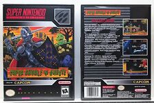 Super Ghouls 'n (and) Ghosts - NO GAME - Super Nintendo SNES Custom Case
