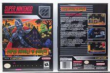 Super Ghouls 'n (and) Ghosts - NO GAME - Super Nintendo SNES Custom Case