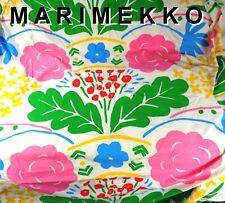 70s Vintage MARIMEKKO Full Fitted Sheet Colorful Floral on White Dan River EUC