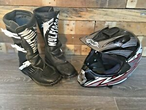 Wulfsport Motorbike Motorcycle Boots & THH Helmet - Garage Clearance